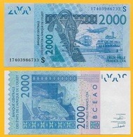 West African States 2000 Francs Guinea-Bissau (S) P-916S 2017 UNC Banknote - West African States