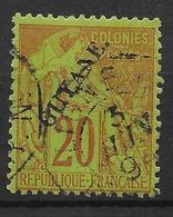 GUYANE TYPE ALPHEE DUBOIS SURCHARGE N° 22 OBLITERATION LEGERE - French Guiana (1886-1949)
