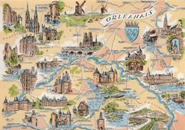 AK Orleanais,  Tregor,, Map, Landkarte, Geografiekart - Maps