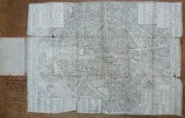 NOUVEAU PLAN ROUTIER DE LA VILLE ET FAULXBOURGS DE PARIS DIVISE EN DOUZE MAIRIE,  Année 1806 - Cartes Topographiques