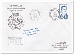 Frans Antarctica 1983, Paul Martin De Vivies, Letter To Marseille - Franse Zuidelijke En Antarctische Gebieden (TAAF)