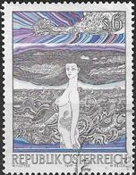 AUSTRIA 1977 Austrian Modern Art - 6s Danube Maiden (Wolfgang Hutter) FU - 1945-.... 2ème République