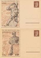 DR - 1942 , Tag Der Briefmarke , Adolf H... -  4 BPK  Komplette Serie - Deutschland