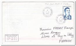 Frans Antarctica 1983, Paul Martin De Vivies, FDC To Le Puy En Velay - FDC
