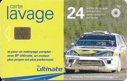 CARTE-PUCE-GEM 6--LAVAGE-BP-24-UNITES-VOITURE RALLYE-BE - Frankrijk
