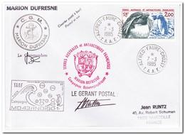 Frans Antarctica 1985, Birds, Letter To Marseille - Franse Zuidelijke En Antarctische Gebieden (TAAF)