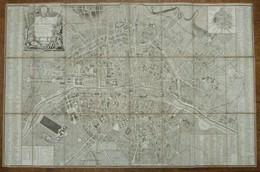 PLAN DE LA VILLE ET FAUBOURG DE PARIS AVEC TOUS SES ACCROISSEMENTS Et La Nouvelle Enceinte Des Barrières.. - 1788 - Cartes Topographiques