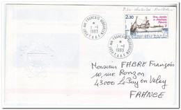 Frans Antarctica 1983, Ship, FDC To Le Puy En Velay - FDC