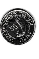 50 TENNESI - 1993 - Pièce Neuve - Turkmenistán