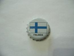 TAPPO CORONA CROWN CAP CHAPA KRONKORKEN BANDIERA FINLANDIA. - Altri
