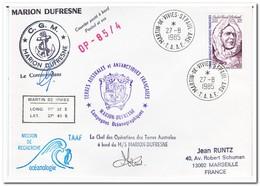 Frans Antarctica 1985, Andre Frank Liotard, Letter To Marseille - Franse Zuidelijke En Antarctische Gebieden (TAAF)