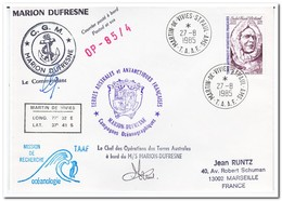 Frans Antarctica 1985, Andre Frank Liotard, Letter To Marseille - Cartas