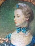 Portrait De Femme Avec Chat: Puzzle Reconstitué Sur Plaque Cartonné Pour Support P.L.V. (500 Pièces- 35,5x49,5 Cm - 2 Pe - Puzzles