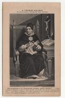 191 Santino Cartolina Antico Non Viaggiata Stampa Francese San Tommaso D'Aquino - Religion & Esotérisme