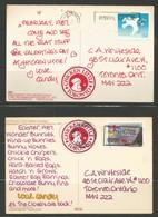 2 Unusual Postcards 1987, W/ Scott ## 1110 + 1127, REALLY Cheap - Histoire Postale