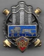 182e Régiment Artillerie Lourde Tractée - Insigne émaillé Drago 26 Mm - Armée De Terre