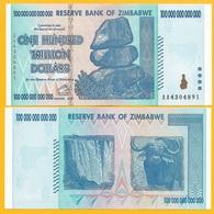 Zimbabwe 100 Trillion Dollars P-91 2008 UNC Banknote - Zimbabwe