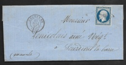 Orne-Lettre-Petit Chiffre 1013 De Couterne Sur N°14A - 1849-1876: Période Classique