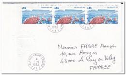Frans Antarctica 1983, FDC, Iles Des Apotres, FDC To Le Puy En Velay - FDC
