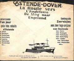 Belgique. Env. CCP 1934  Pub  Oostende-Dover - Belgique