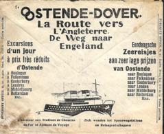 Belgique. Env. CCP 1933  Pub  Oostende-Dover  (texte Différent) - Belgique