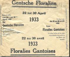 Belgique. Env. CCP 1932  Pub Floralies Gantoises 1933 - Belgique