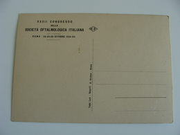 1934  XXXII  CONGRESSO    Società Oftalmologica  ROMA SALUTE MEDICINA  NON VIAGGIATA - Salute