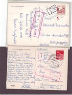 2 X AK Nachgebühr Nachporto Porto, Postojna Slovenien N. Gloggnitz, Baiersbronn - 1945-.... 2ème République
