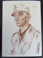 Postkarte Generaloberst Dietl - Willrich - Erhaltung II (fleckig) - Weltkrieg 1939-45