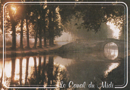 CANAL Du MIDI - Superbe Carte Toilée - Autres Communes