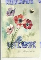 Bonne Fête Maman. Fleurs Et Coeur Argenté Collé. Carte Double Et Encart - Fête Des Mères