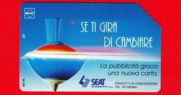 ITALIA - Scheda Telefonica - Usata - SIP - Trottole - Se Ti Gira Di Cambiare - Golden 318 - Variante - Italia