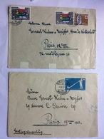 SWITZERLAND 1950`s X 2 Covers Bern To Paris Various Stamps - Switzerland