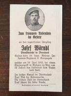 Sterbebild Wk1 Ww1 Bidprentje Avis Décès Deathcard RIR18 GALIZIEN 18. Juni 1915 Aus Frasdorf - 1914-18