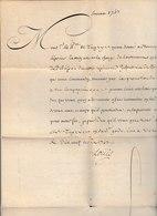 LAC Signée LOUIS (XV) Datée De TOURAINE 1743  Adressée Au Prince De Tingry Dubuisson Pour Mr De LIGONIEV Très Bon état - Marcofilia (sobres)
