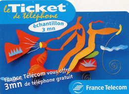 TICKET Téléphone  =  France Télécom Vous Offre ..    30/06/2000 - France
