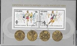 POLONIA - VINCITORI POLACCHI D'ATLETICA OLIMPIADI 1932 - FOGLIETTO USATO 1984 (YVERT BF 102 - MICHEL BL 94) - Estate 1932: Los Angeles