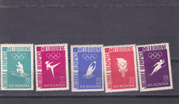 ROMANIA 1960, JEUX OLYMPIQUES DE ROME MNH YVERT #1720-1725 - 1948-.... Républiques