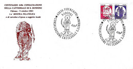 ITALIA - 1983 FIDENZA (PR)  Cent. Consacrazione Cattedrale E Martirio Di S. DONNINO - 1^ Mostra Fil. Su Busta Speciale - Esposizioni Filateliche