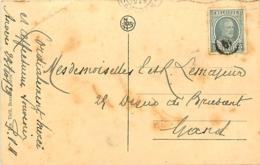 Belgique.  TP 193  CPI Antwerpen > Gent 1929  Oblitéré Par Cachet De Facteur   Taches - 1922-1927 Houyoux