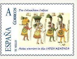 SPAIN*PRE-COLUMBIAN CODICES*Aztec Warriors In The CODEX MENDOZA*PRE-HISPANIC CODICES OF MESOAMERICA (TU SELLO) - Arte