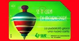 ITALIA - Scheda Telefonica - Usata - SIP - Trottole - Se Ti Gira Di Incuriosire - Golden 327 - Variante - Italia