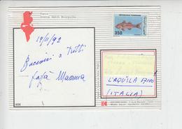 TUNISIA  1992 - Cartolina Per Italia -  Pesce - Tunisia (1956-...)