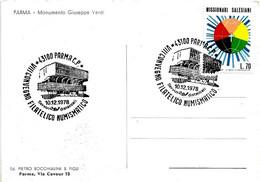 ITALIA - 1978 PARMA VIII Convegno Fil. Num. (Palazzetto Dello Sport)  Su Cartolina Illustrata - Francobolli