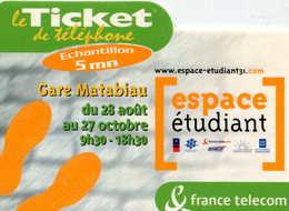 TICKET Téléphone  =  Espace Etudiant - France