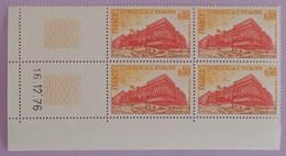 """FRANCE SERVICE  YT 53 NEUFS**MNH BLOC DE 4 AVEC COIN DATE"""" CONSEIL DE L EUROPE """"16/12/1976 - Service"""