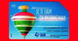 ITALIA - Scheda Telefonica - Usata - TELECOM - Trottole - Se Ti Gira Di Incuriosire - Golden 329 - Variante - Italia