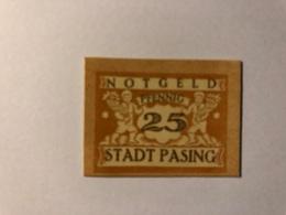 Allemagne Notgeld Pasing 25 Pfennig - [ 3] 1918-1933 : République De Weimar