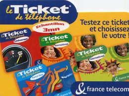 TICKET Téléphone  =  Testez Ce Ticket  30/11/2001 - France