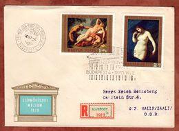 FDC, Einschreiben Reco, Szepmueveszeti Muezeum + ZF, Budapest Mabeosz Nach Halle 1970 (72632) - FDC